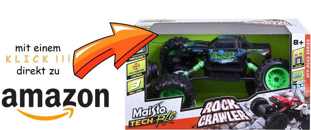 Bild vom RC Rock Crawler mit Linkhinweis zu Amazon